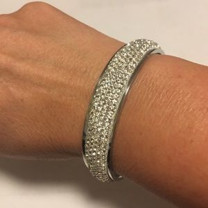 Jewelry - Stainless Steel and Crystal Bracelet